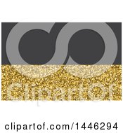 Gold Glitter And Gray Background Or Business Card Design