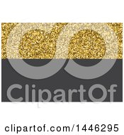 Clipart Of A Gold Glitter And Gray Background Or Business Card Design Royalty Free Vector Illustration
