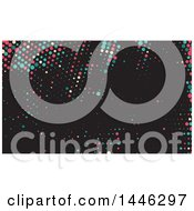 Colorful Dots On Black Background Or Business Card Design