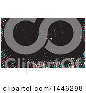 Clipart Of A Colorful Dots On Black Background Or Business Card Design Royalty Free Vector Illustration
