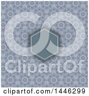 Clipart Of A Blank Frame Over A Vintage Floral Pattern Royalty Free Vector Illustration