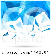 Clipart Of A Blue And White Low Poly Geometric Background Royalty Free Vector Illustration