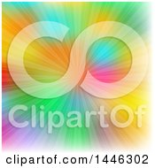 Clipart Of A Colorful Background With Rays Royalty Free Vector Illustration