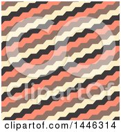 Clipart Of A Retro Yellow Black And Salmon Pink Zig Zag Pattern Royalty Free Vector Illustration