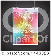 Poster, Art Print Of Suspended Happy Holi Festival Poster Over Black
