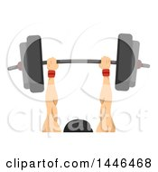 Clipart Of A Strong Man Lifting A Barbell Performing The Clean And Jerk Royalty Free Vector Illustration by BNP Design Studio