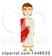 Clipart Of A Roman Emperor In A Tunic Royalty Free Vector Illustration