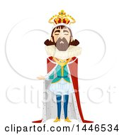Clipart Of A Snooty Male King Presenting Royalty Free Vector Illustration by BNP Design Studio