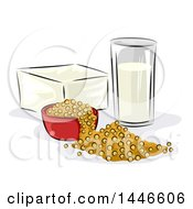Clipart Of Soy Products Royalty Free Vector Illustration