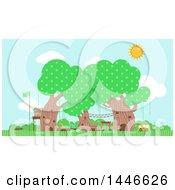 Poster, Art Print Of Preschool In Trees
