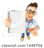 Clipart Of A 3d Caucasian Teenage Guy  On A White Background Royalty Free Illustration