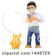 3d Caucasian Teenage Guy  On A White Background
