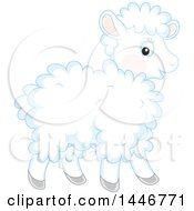 Poster, Art Print Of Cute Fluffy Baby Lamb Sheep