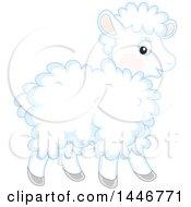 Poster, Art Print Of Cute Fluffy Baby Lamb Sheep