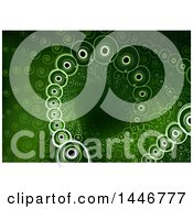 Clipart Of A Background Of Spirals In A Tunnel On Green Royalty Free Vector Illustration by dero