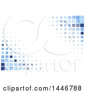 Clipart Of A Background Of Blue Tiles Or Pixels On White Royalty Free Vector Illustration by KJ Pargeter