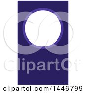Clipart Of A Business Card Design With A Circle Over Blue Royalty Free Vector Illustration