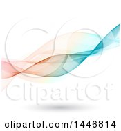 Clipart Of A Background Of Colorful Flowing Waves On White Royalty Free Vector Illustration