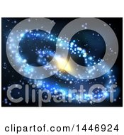 Clipart Of A Spiral Galaxy Background Royalty Free Vector Illustration by AtStockIllustration