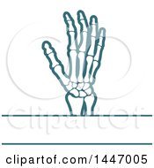 Human Wrist And Hand With Text Space