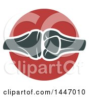 Clipart Of A Human Knee Joint Royalty Free Vector Illustration