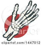 Clipart Of A Human Wrist And Hand Over A Red Circle Royalty Free Vector Illustration