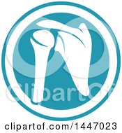 Clipart Of A Human Shoulder Joint In A Circle Royalty Free Vector Illustration