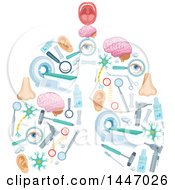 Clipart Of A Pair Of Human Lungs Formed Of Medical Icons Royalty Free Vector Illustration by Vector Tradition SM