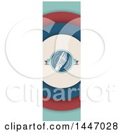 Clipart Of A Retro Styled Vertical Foot Banner Royalty Free Vector Illustration by Vector Tradition SM