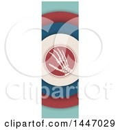Clipart Of A Retro Styled Vertical Hand Banner Royalty Free Vector Illustration
