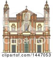 Poster, Art Print Of Line Drawing Styled Italian Landmark Church Of San Domenico
