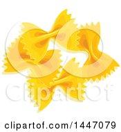 Clipart Of Farfalle Italian Pasta Royalty Free Vector Illustration
