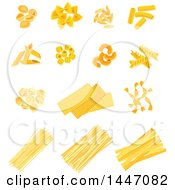 Clipart Of Italian Pasta Royalty Free Vector Illustration by Vector Tradition SM