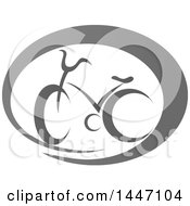 Clipart Of A Grayscale Bicycle Icon Royalty Free Vector Illustration by Vector Tradition SM
