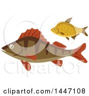 Clipart Of Fish Royalty Free Vector Illustration