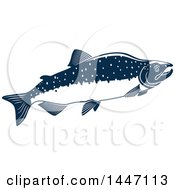 Navy Blue And White Humpback Salmon Fish