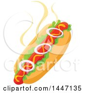 Clipart Of A Hot Dog Royalty Free Vector Illustration by Vector Tradition SM