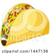 Clipart Of A Taco Royalty Free Vector Illustration by Vector Tradition SM