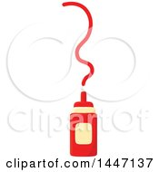 Clipart Of A Ketchup Bottle Royalty Free Vector Illustration by Vector Tradition SM