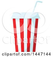 Clipart Of A Fountain Soda Royalty Free Vector Illustration