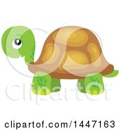 Clipart Of A Cute Tortoise Turtle Royalty Free Vector Illustration by visekart