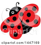 Clipart Of A Cute Ladybug With Black Dots Royalty Free Vector Illustration by visekart