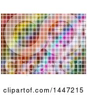 Poster, Art Print Of Background Of A Colorful Grid