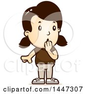 Clipart Of A Retro Surprised Gasping Caucasian Girl Royalty Free Vector Illustration by Cory Thoman