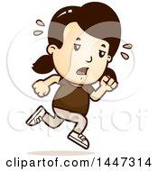 Poster, Art Print Of Retro Tired Caucasian Girl Running