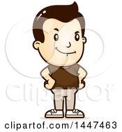 Clipart Of A Retro Proud White Boy Royalty Free Vector Illustration
