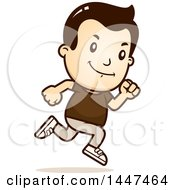 Clipart Of A Retro White Boy Running Royalty Free Vector Illustration by Cory Thoman