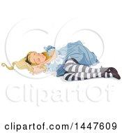 Alice In Wonderland Sleeping On The Ground