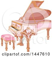 Poster, Art Print Of Beautiful Pink Fortepiano