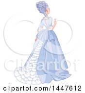 Rear View Of A Lady In A Beautiful Gown